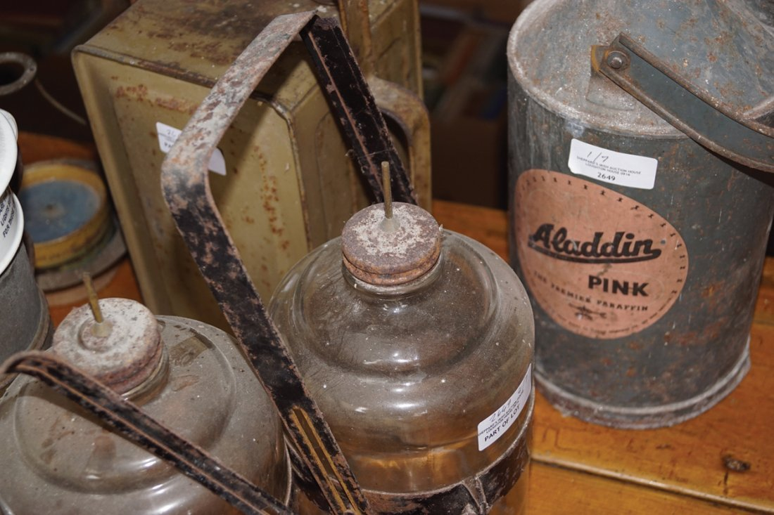 TWO OLD PARAFFIN CANS