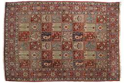 NORTH CENTRAL PERSIAN SILK, WOOL AND WEAVE CARPET