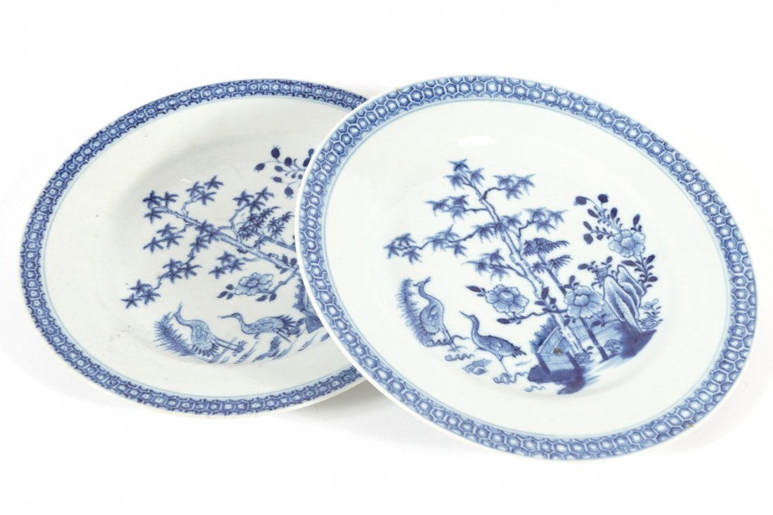 PAIR OF CHINESE EIGHTEENTH-CENTURY BLUE AND WHITE