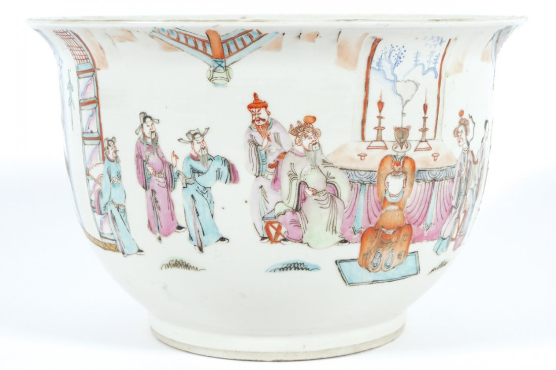 NINETEENTH-CENTURY CHINESE FAMILLE ROSE JARDINIERE