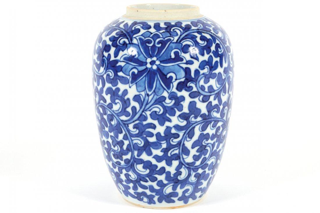 NINETEENTH-CENTURY CHINESE BLUE AND WHITE VASE