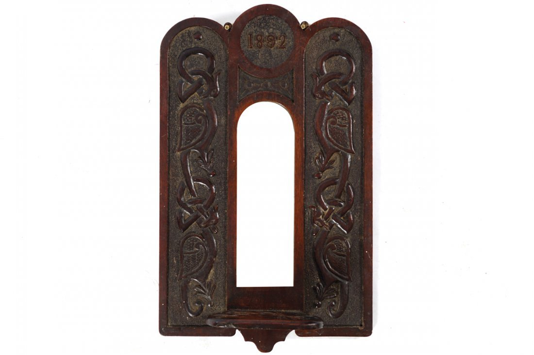 ARTS AND CRAFTS CELTIC REVIVAL HALL MIRROR