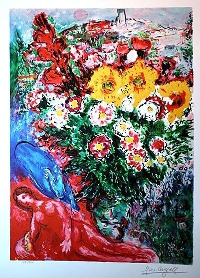 "6B: CHAGALL ""SOUCIS"" LIMIED EDITON - MINT"