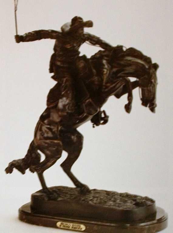 "516: ""Bronco Buster"" Bronze Sculpture by  Remington"