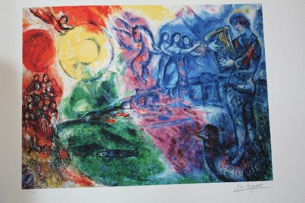 """519: CHAGALL - """"ORPHEUS"""" - LIMITED EDITION - L ITHOGRAP"""