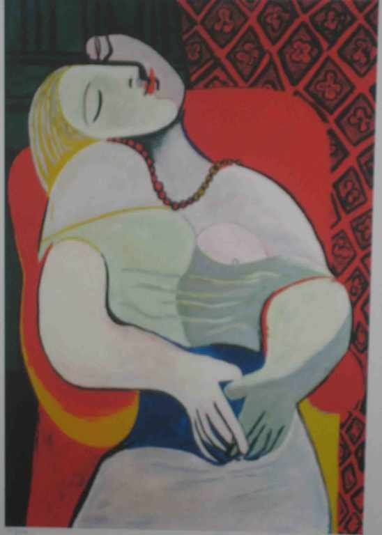 """526: """"THE RED ARMCHAIR - DOMAINE COLLECTION"""" by Picasso"""
