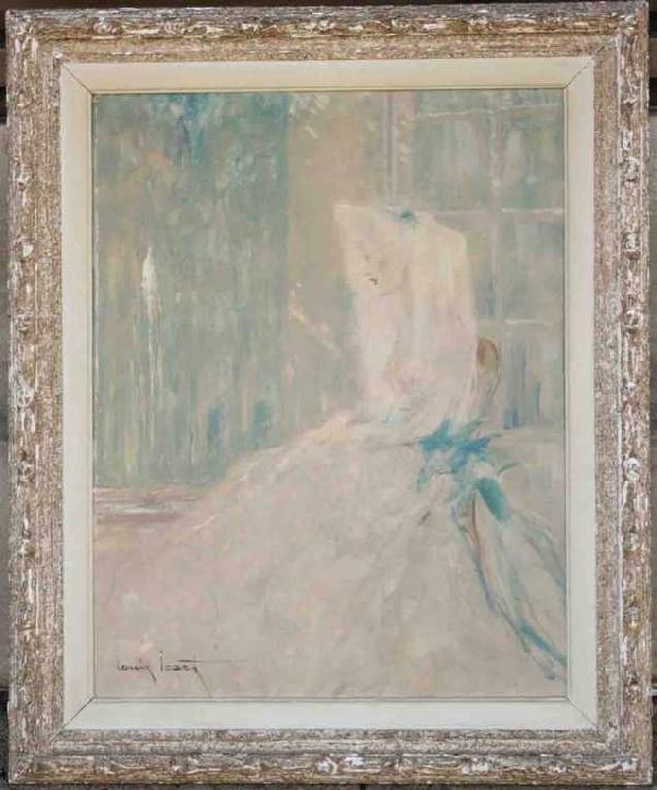 "820: ""Eveil du Printemps"" Orig. Oil by Lewis Icart"