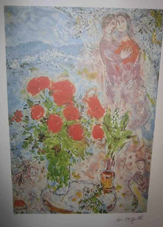 "901: ""RED BOUQUET"" by Chagall"