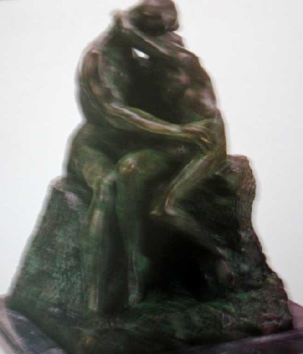 "903A: ""The Kiss"" Bronze Sculpture by Rodin"