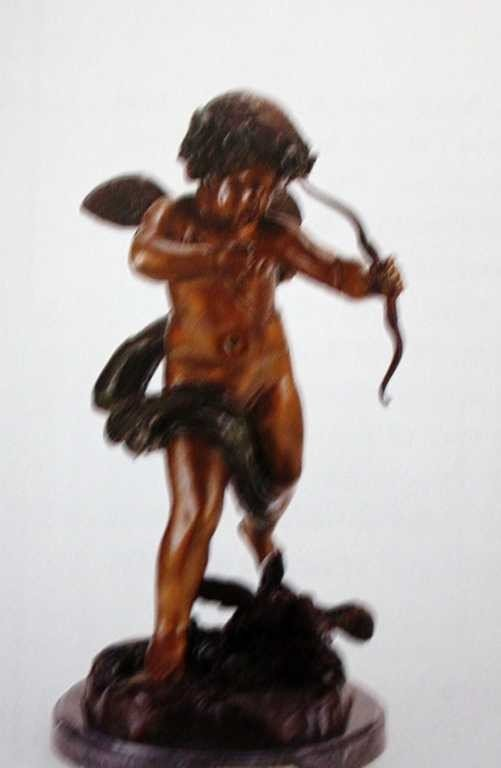"905A: ""Cupid"" Bronze Sculpture by  Houdon"