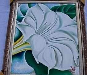 "907: ""WHITE BLOOM""  by O'Keeffe"