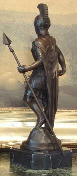 1149: SPARTACUS GREEK WARRIOR BRONZE SCULPTURE - 3