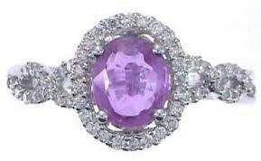 2: 14KW FANCY PINK DIAMOND RING