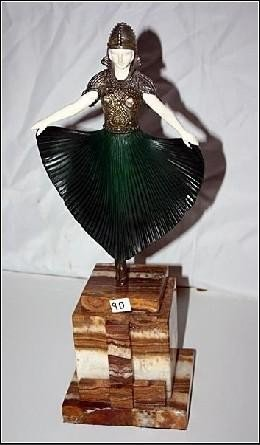 """4A: CHIPARUS - """"ACTRESS"""" -BRONZE AND IVORY SCULPTURE"""