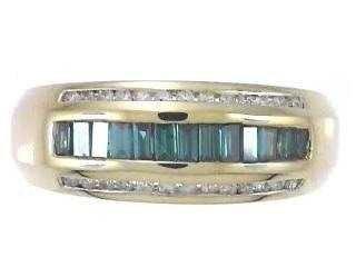 5: 14KW BLUE DIAMOND RING