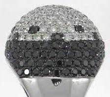 14: 14KW BLACK DIAMOND RING