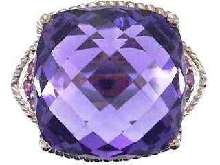 15: 14K Amethyst & Pink Sapphire Ring