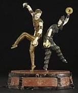 """933: """"RUSSIAN DANCERS"""" -BRONZE AND IVORY SCULPTURE"""