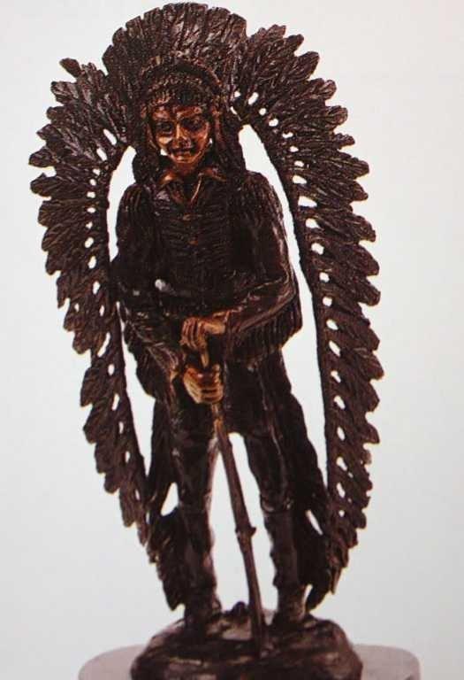 """519A: """"Standing Bear"""" Bronze Sculpture by Kauba"""