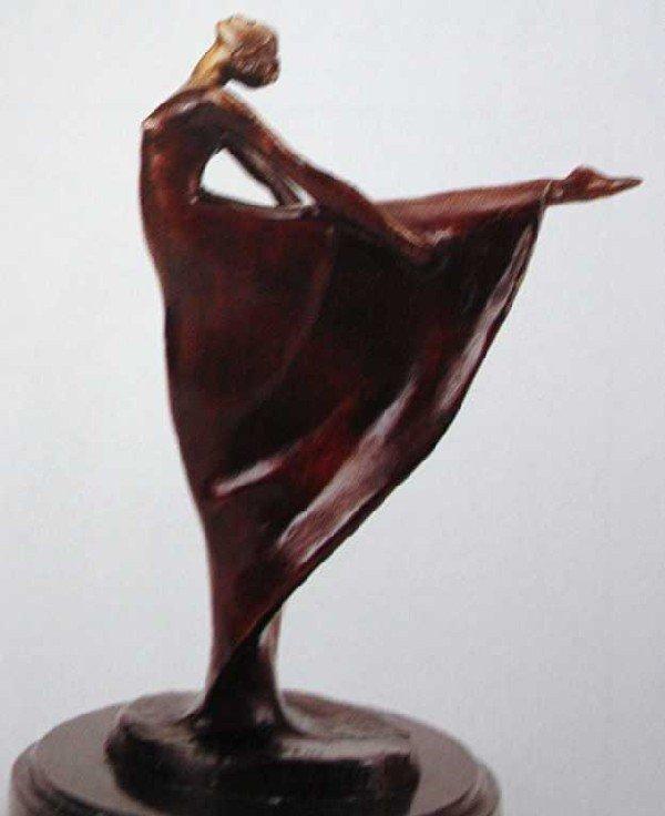 """525: """"Ballet Dancer"""" Bronze Sculpture by Gennarelli"""