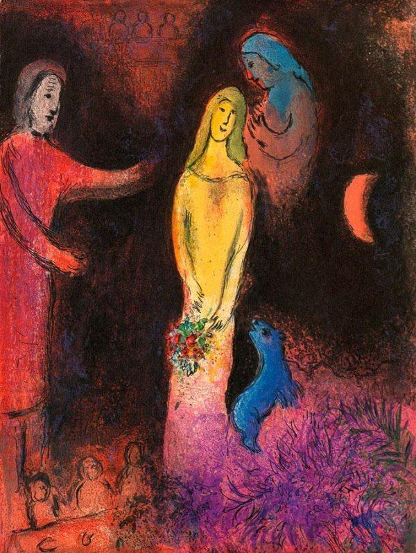 101D: MARC CHAGALL - LIMITED EDITION ON CANVAS