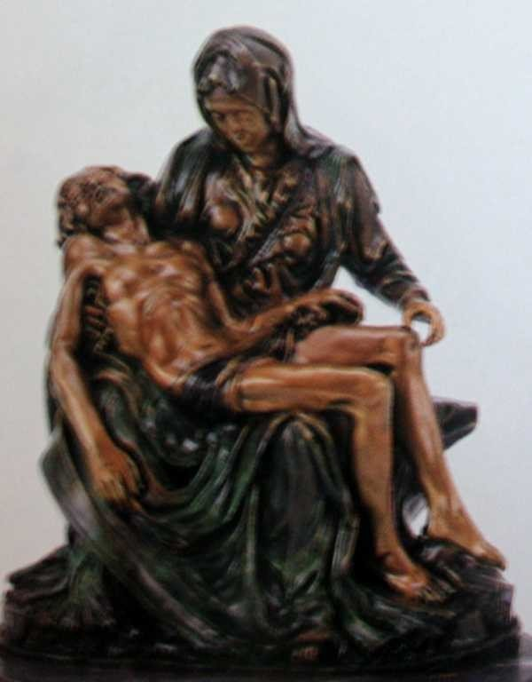 "2101: ""Pieta"" Bronze Sculpture by Michelangelo"