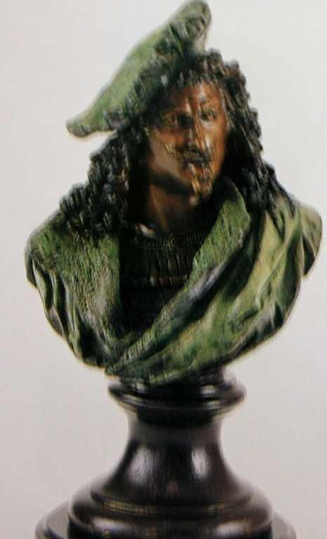 "2117: ""Rembrandt"" Bronze Sculpture by Carrier"