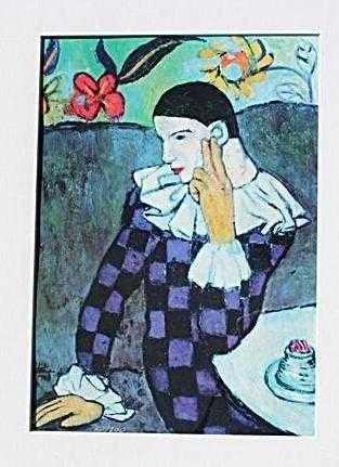 """2399: """"LEANING HARLEQUIN"""" by Picasso"""