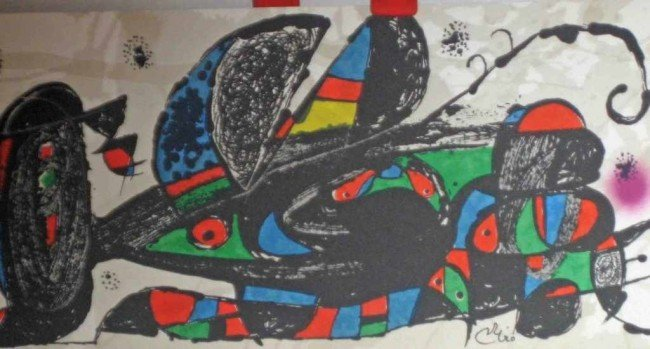 8A: Signed Limited Edition Lithograph by Miro