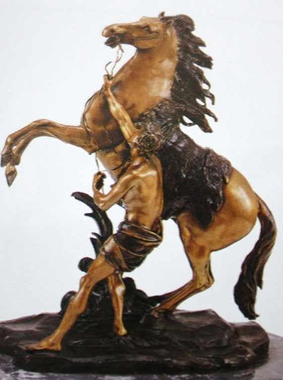 "19A: ""Marly Horse With Boy"" Bronze Sculpture by Coustou"