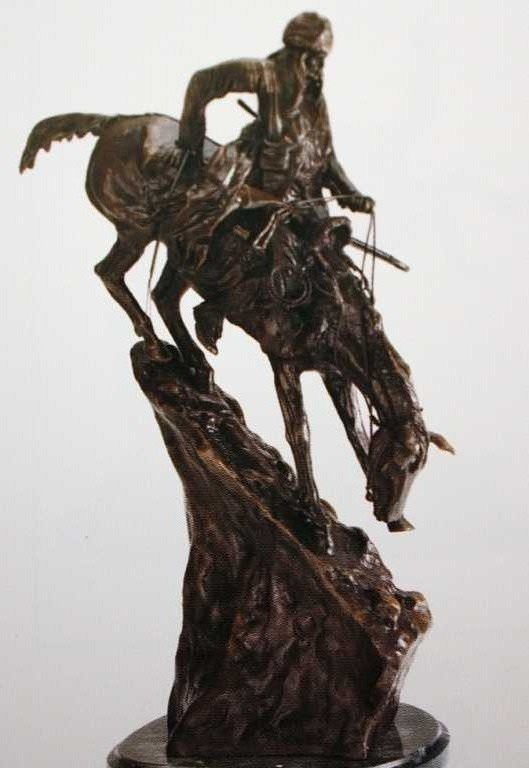 "7: ""Mountain Man"" Bronze Sculpture by Remington"