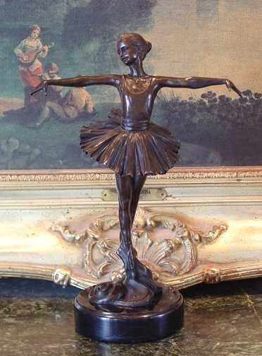 18: BALLERINA DANCER BY RUBIN -   BRONZE SCULPTURE