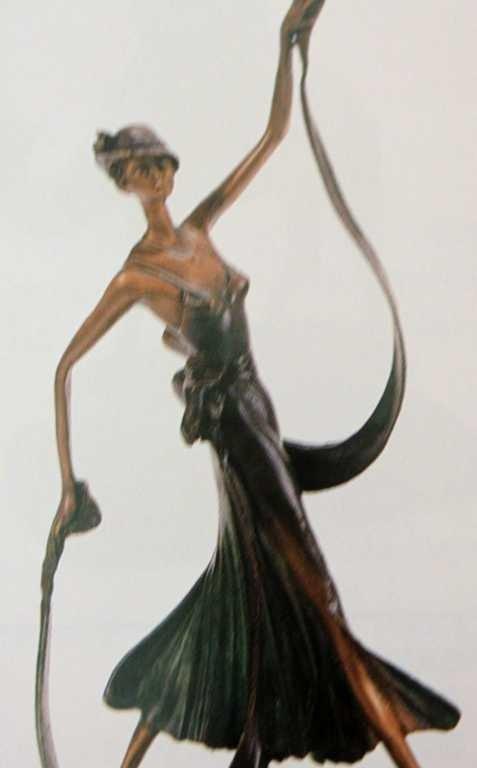 "1013: ""Summer Stroll"" Bronze Sculpture by Chiparus"