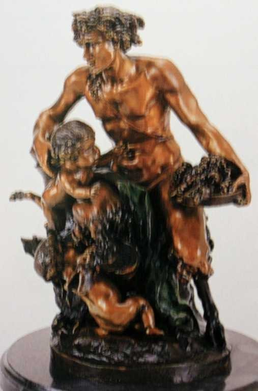 """1021: """"Male Satyr Group"""" Bronze Sculpture by Clodion"""