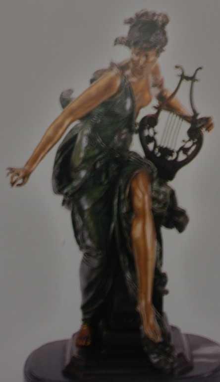 "1384: ""Melodie"" Bronze Sculpture by Belleuse"