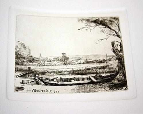 """205: """"CANAL BOAT"""" by Rembrandt"""