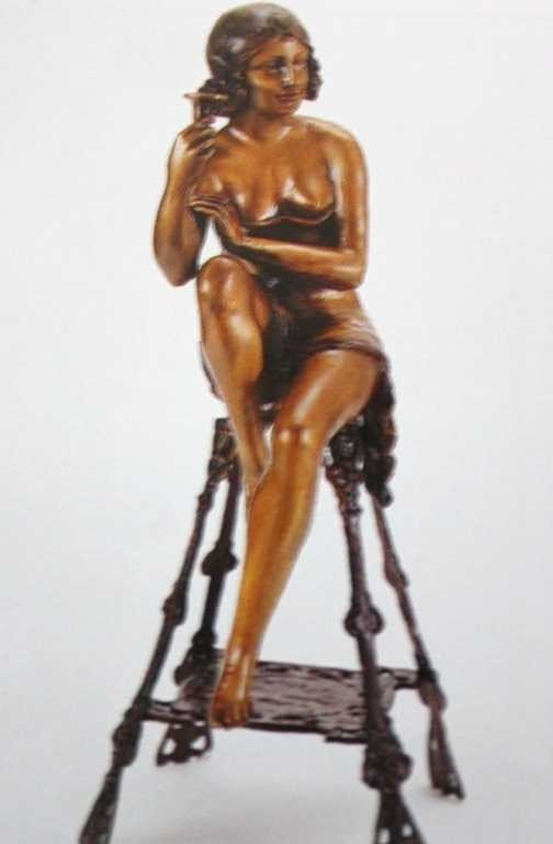 """206: """"Champagne Lady"""" (Right) Bronze Sculpture by Mir"""