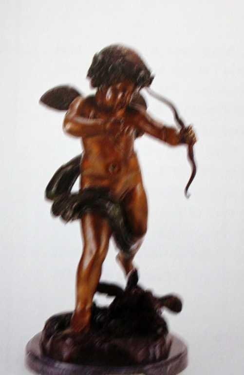 "207: ""Cupid"" Bronze Sculpture by  Houdon"