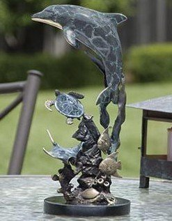 218: Dolphin & Friends Bronze Sculpture