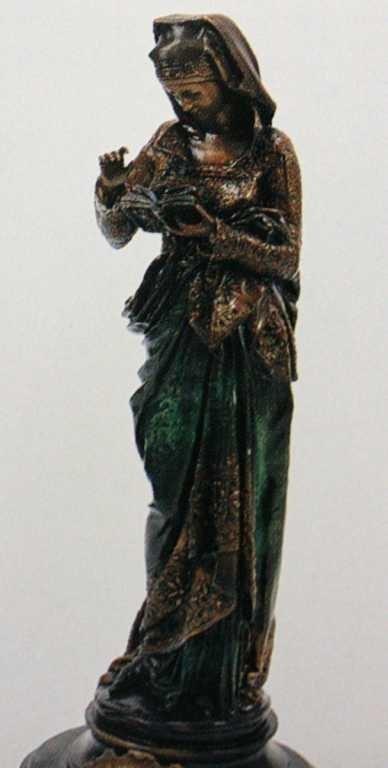 "1202: ""Girl Reading Book"" Bronze Sculpture by Belleuse"