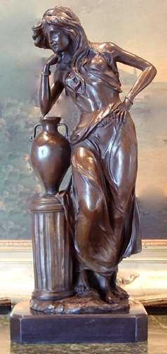 1209: ATHENA GREEK BRONZE SCULPTURE BY BARYE
