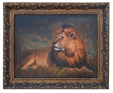 """1223: """"THE LION"""" - ORIGINAL OIL ON CANVAS"""