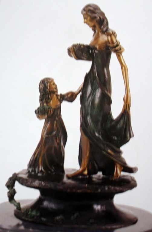 """33: """"Mother and Child"""" Bronze Sculpture  by Icart"""
