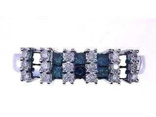 38: 14KW BLUE DIAMOND RING