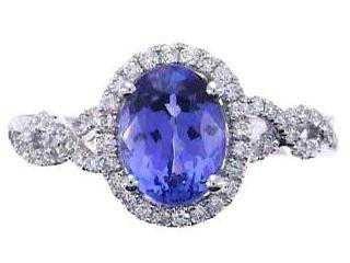 45: 14kw Tanzanite & Diamond Ring