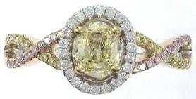 47: 18K FANCY YELLOW DIAMOND RING