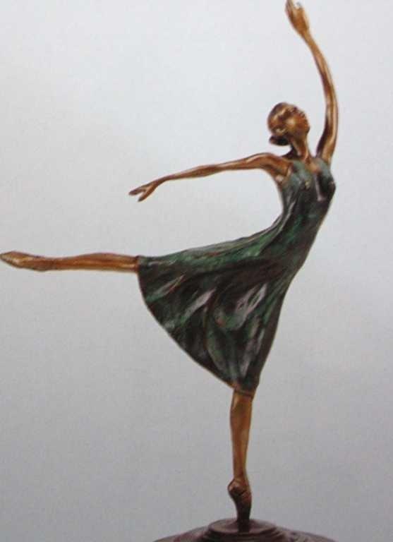 """48: """"Ballerina"""" Bronze Sculpture by Degas"""
