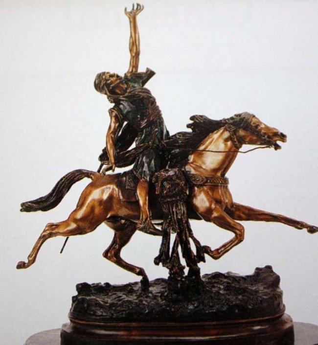 "50: ""Fantastic Arab"" Bronze Sculpture by Rancoulet"
