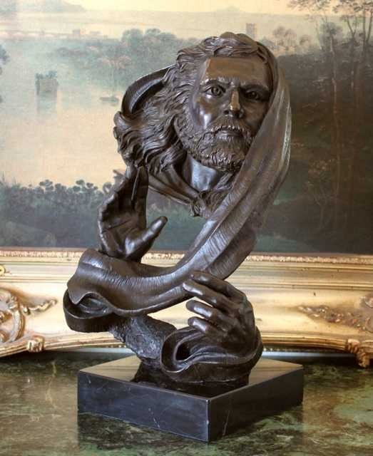 1256: MOSES BRONZE BUST