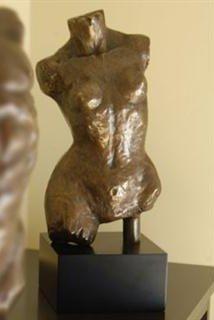 231: Female Bust Bronze Sculpture